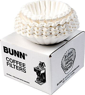 Bunn Coffee Filters, 12-Cup, 250/Pack 851085