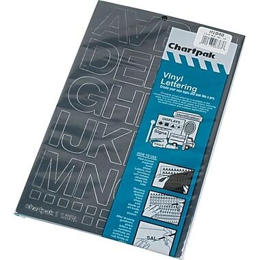 Chartpak Press-On Vinyl Uppercase Letters, 1-1/2