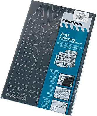 Chartpak Vinyl Letters and Numbers, 2
