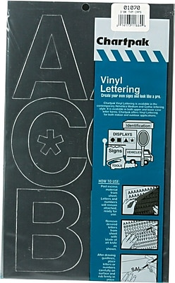 Chartpak Press-On Vinyl Uppercase Letters, 3