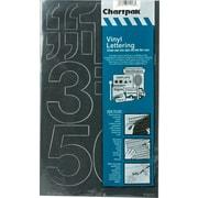 "Chartpak Press-On Vinyl Numbers, 3"" high, Helvetica, Black"