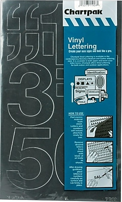 Chartpak Press-On Vinyl Numbers, 3