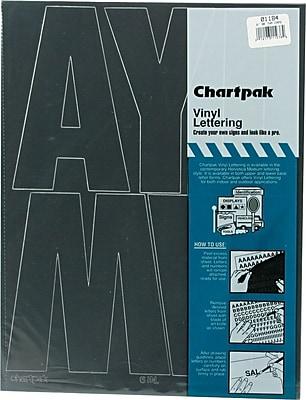 Chartpak Press-On Vinyl Uppercase Letters, 6
