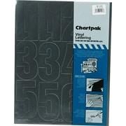 "Chartpak Press-On Vinyl Numbers, 4"" high, Helvetica, Black"