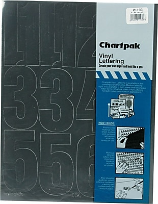 Chartpak Press-On Vinyl Numbers, 4