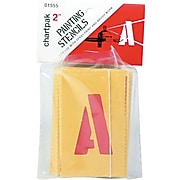 """Chartpak Painting Stencil Numbers/Letters, 2"""", Yellow (CHA01555)"""