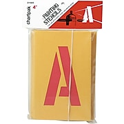 """Chartpak Painting Stencil Numbers/Letters, 4"""", Yellow (CHA01565)"""