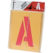 """Chartpak Painting Stencil Numbers/Letters, 6"""", Yellow (CHA01575)"""