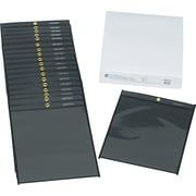 """C-Line Stitched Shop Ticket Holder, Clear Front/Black Back, 8 1/2"""" x 11"""", 25/Bx"""