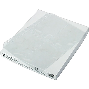 """C-Line Photo Holders for 3 Ring Binders, 3 1/2"""" x 5"""", Clear (CLI52584)"""