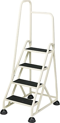 """""Cramer Four-Step Stop-Step Aluminum Ladder with Handrail, Beige, 66"""""""""""""" 403818"