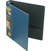 "Cardinal® SpineVue® Locking Round Ring Binder, Navy, 375-Sheet Capacity, 1 1/2"" (Ring Diameter)"
