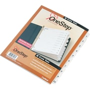 "Cardinal OneStep® Index System, Numbered 1-10 Tab, White, 8 1/2"" x 11"""