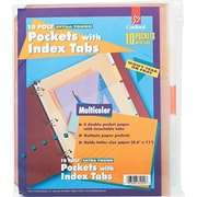 Cardinal® Poly Pockets with Index Tabs, Assorted
