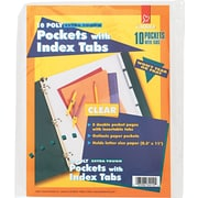 Cardinal® Poly Pockets with Index Tabs, Clear