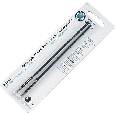Size-It Ballpoint Pen Refills, Medium, Black