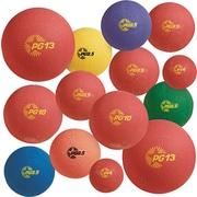 "Champion Sports Multi-Size Playground Ball Set, 6""; 8 1/2""; 10""; 13"", Blue; Green; Orange; Purple; Red; Yellow, 1/Set (UPGSET1)"