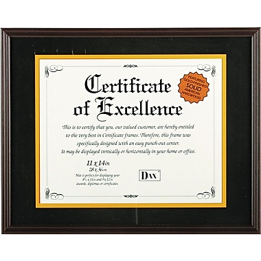 hardwood documentcertificate frame with mat mahogany - Document Frame