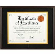Hardwood Document/Certificate Frame with Mat, Mahogany