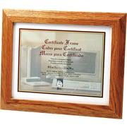 Stepped Oak Document/Certificate Frames, 8 1/2 x 11