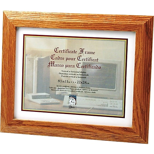 Stepped Oak Documentcertificate Frames 8 12 X 11 Staples