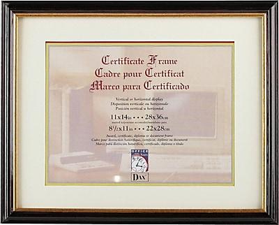 Document/Certificate Frames with Elegant Mat, Mahogany/Gold Leaf Edge