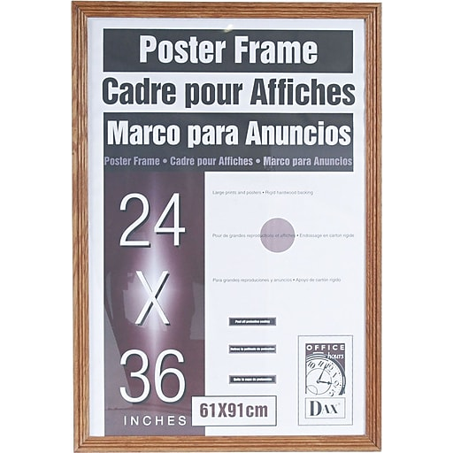 Dax Plastic Poster Frame with Plexiglas Window, 24 x 36 | Staples