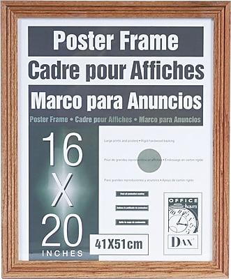 Dax Plastic Poster Frame with Plexiglass Window, 16 x 20
