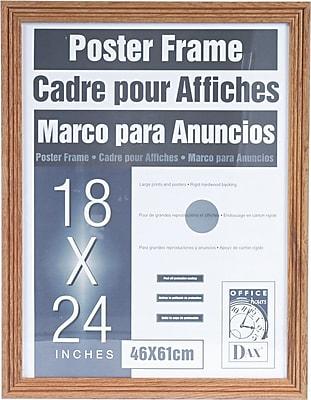 Dax Plastic Poster Frame with Plexiglass Window, 18 x 24