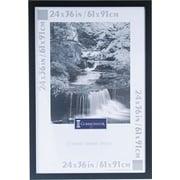 DAX Black Plastic Poster Frame, Plastic Window, 24 x 36