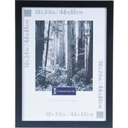 "Black Wood Poster Frame, Plexiglas® Window, 18"" x 24"""