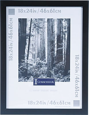 Black Wood Poster Frame, Plexiglas® Window, 18