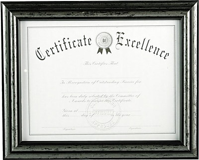 DAX® Antique Brushed Charcoal Wood Document Frame, Wood, 8 1/2 x 11, Brushed Charcoal, Each (N15790NT)