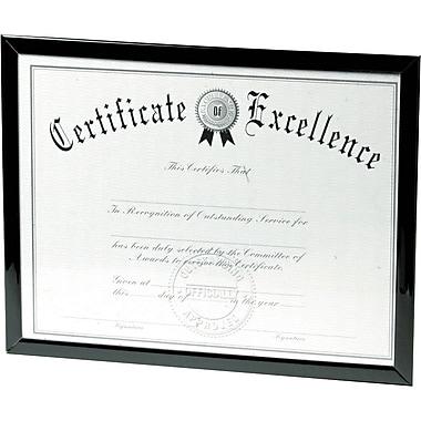 DAX Value U-Channel Document Frames 8-1/2 x 11 Black