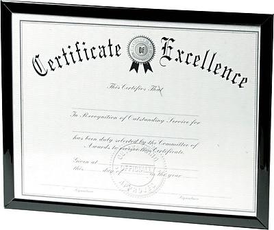 Dax Value U Channel Document Frames 8 12 X 11 Black Staples