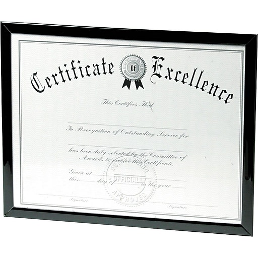Dax Value U Channel Document Frames 8 12 X 11 Black Staples