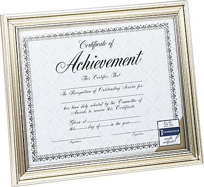 DAX Document Frame, Antique Silver, 8 1/2