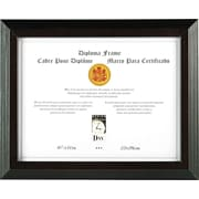Solid Wood Award and Certificate Frames, Black/Walnut Moulding, 8 1/2 x 11