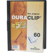 "Durable DuraClip Report Cover, Black, 8 1/2"" x 11"""