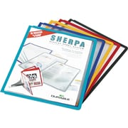 Sherpaa Display Presentation System Panels, Letter Size, Assorted Borders, 5Set