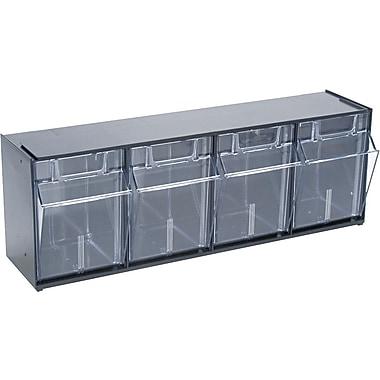 Deflecto® Tilt Bin™ Multipurpose Storage and Organization 4-Bin System
