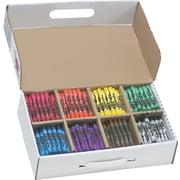 Prang® (Dixon Ticonderoga®) Crayons, Large, Master Pack, 8 Colors, 400/Box