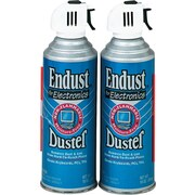 Endust, Non-Flammable Formula Compressed Gas Dusters, 10 oz., 2/Pk