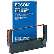 EPSON® ERC-23BR Printer Ribbon for M-250/M-260/RP265/267/TM-267A, B, C, D/TM-270, Black/Red
