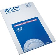 "Epson Photo-Quality Inkjet Paper, Watercolor, SB-Sized, 13"" x 19"", 20/Pk"