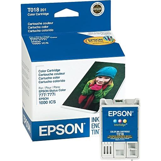 epson 18 color ink cartridge t018201 staples. Black Bedroom Furniture Sets. Home Design Ideas