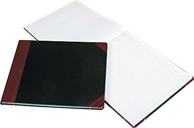 Boorum & Pease Columnar Book, 24 Column, Black Cover, 150 Pages, 12 7/8 x 15 1/8