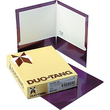 Oxford Laminated Two Pocket Portfolios, Metallic Purple, 9 1/2
