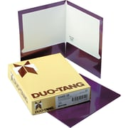 "Oxford Laminated Two Pocket Portfolios, Metallic Purple, 9 1/2"" x 11 5/8"", 25/Bx"