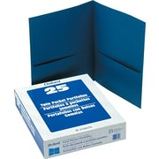 "Oxford Twin Pocket Portfolio, Blue, 8 1/2"" x 11"", 25/Bx"